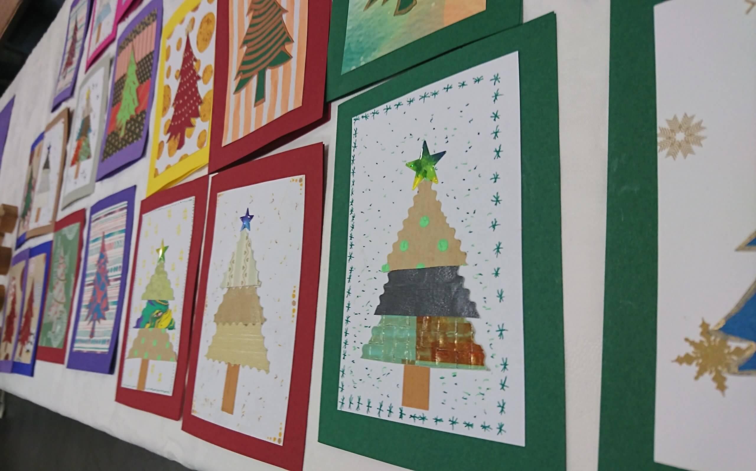 Weihnachtskartenverkauf
